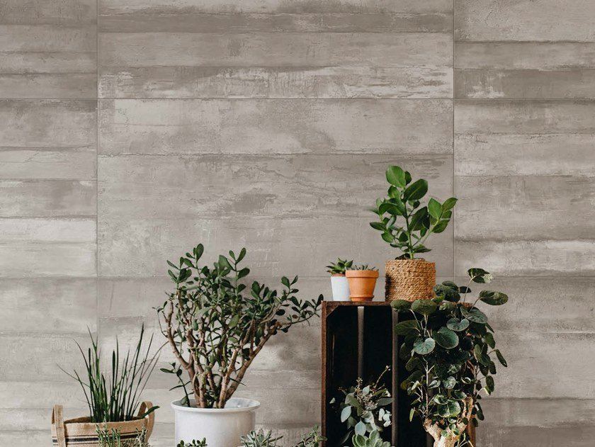 Porcelain stoneware wall/floor tiles with concrete effect MOON AG by Ceramica d'Imola