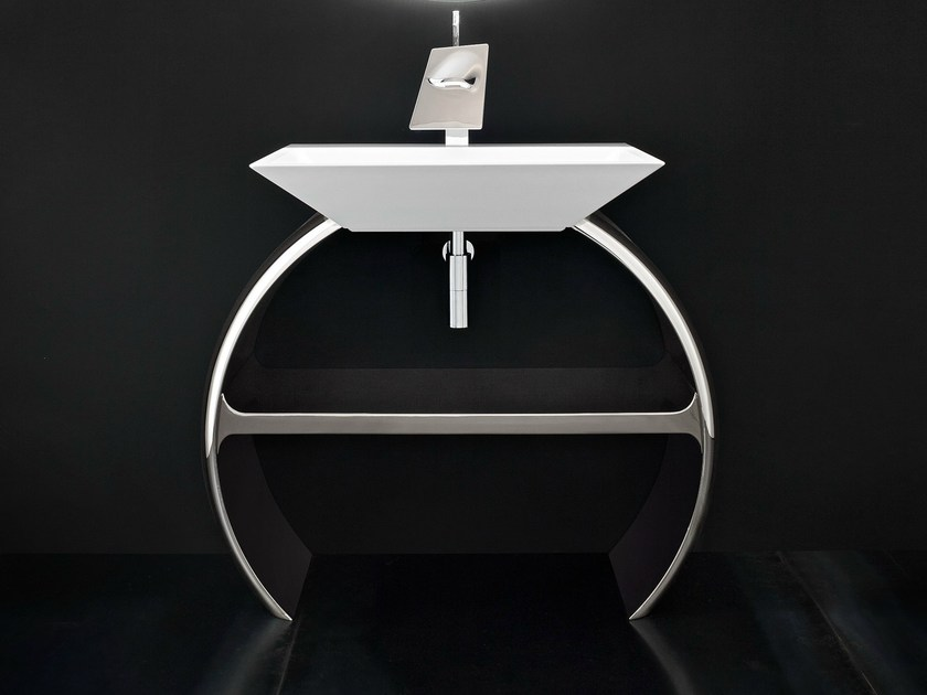 Chrome plated vanity unit MOON by Cerasa