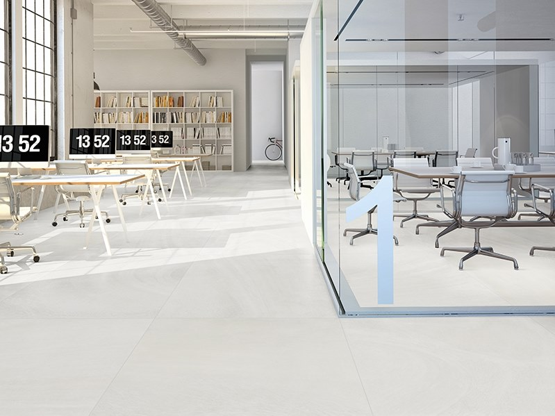 Porcelain flooring with stone effect MOON by ITT Ceramic