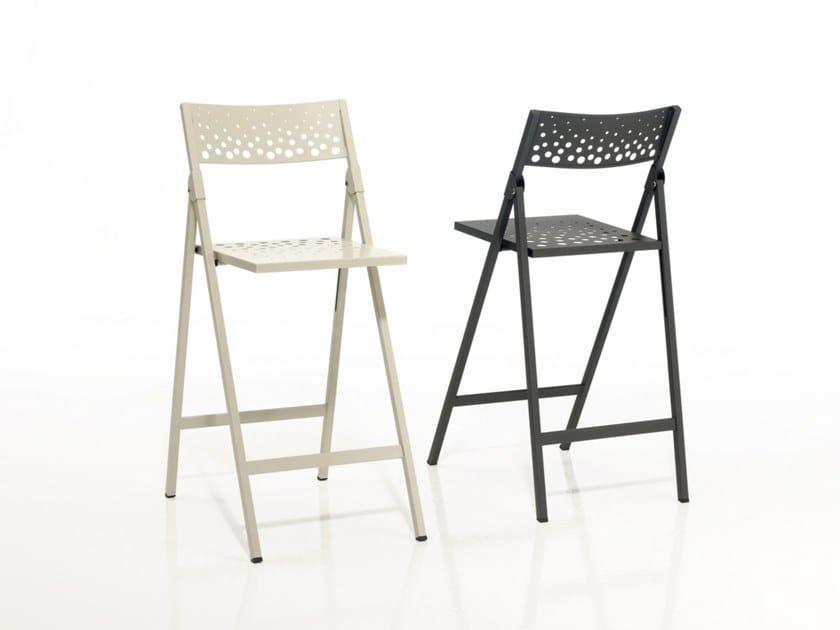 High folding metal stool MOON | Stool by MOBLIBERICA