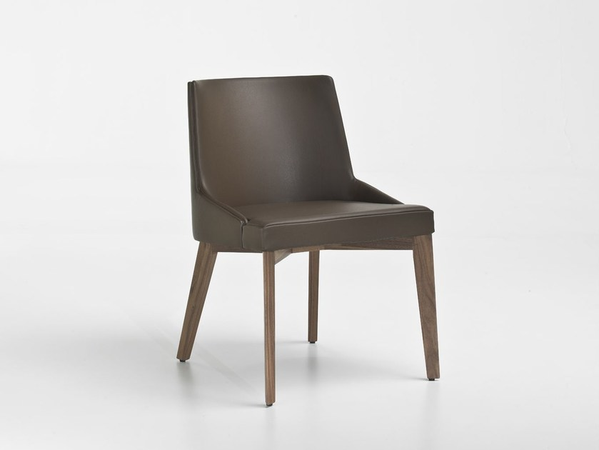 Upholstered leather chair MOORE | Leather chair by i 4 Mariani