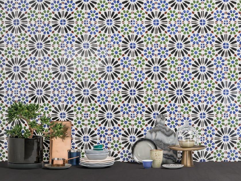 revestimento de parede de cerâmica moorish by aleluia cerâmicas