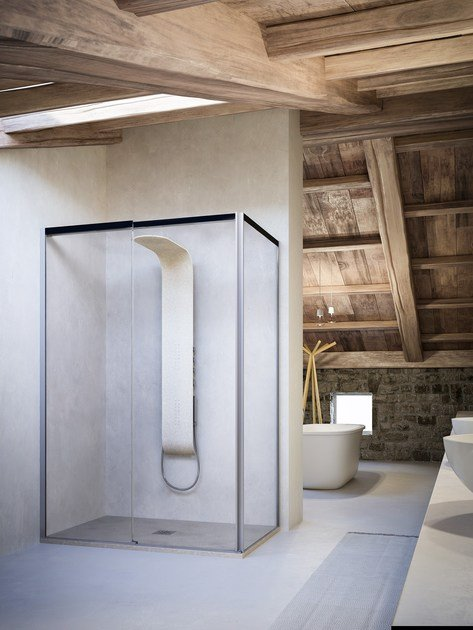 Shower cabin with sliding door MOOV TW+TL by Glass1989