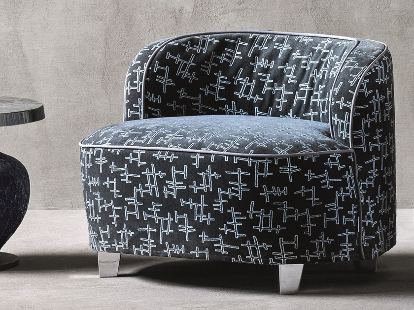 Fabric armchair with removable cover with armrests MORE 25 by Gervasoni