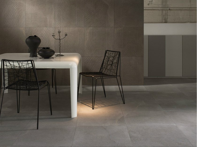 Porcelain stoneware wall/floor tiles with marble effect MORE by Ceramica d'Imola