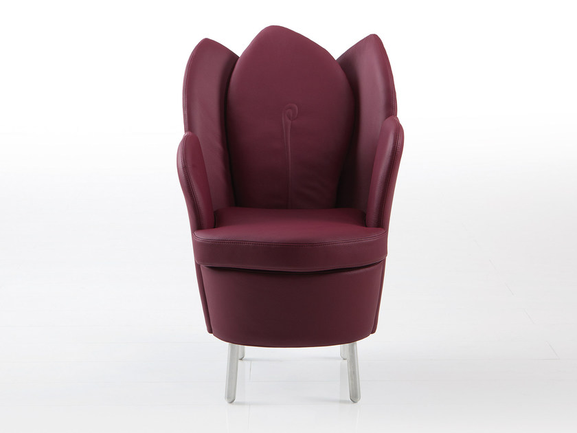 Leather armchair MORNING DEW | Leather armchair by brühl
