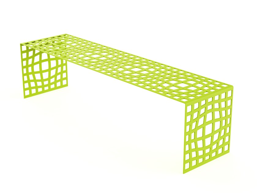 Backless galvanized steel Bench MORPHSCAPE BENCH by LAB23