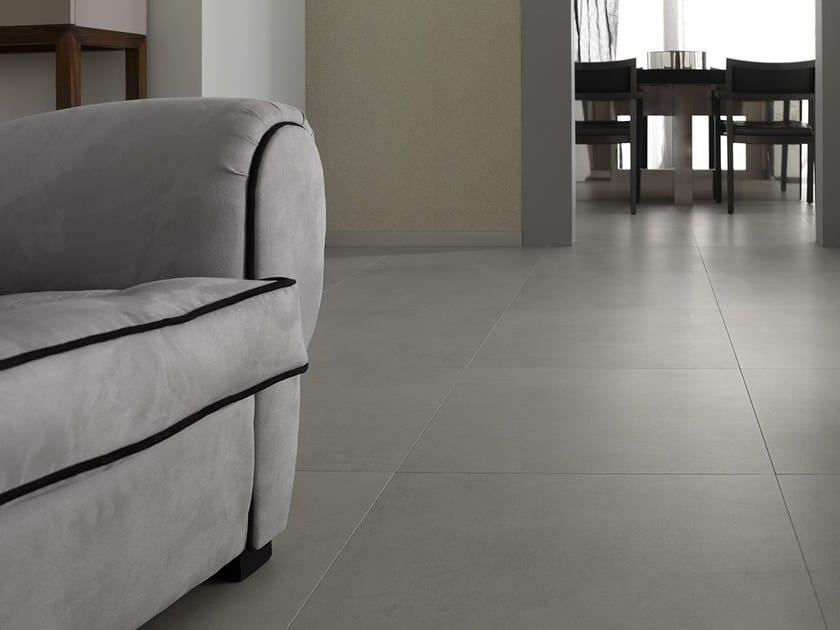 Porcelain stoneware flooring with concrete effect MORSE BEIGE by URBATEK