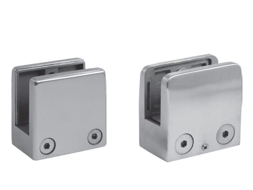 Fissaggio per parapetti in acciaio satinato Fissaggio per parapetti by Metalglas Bonomi