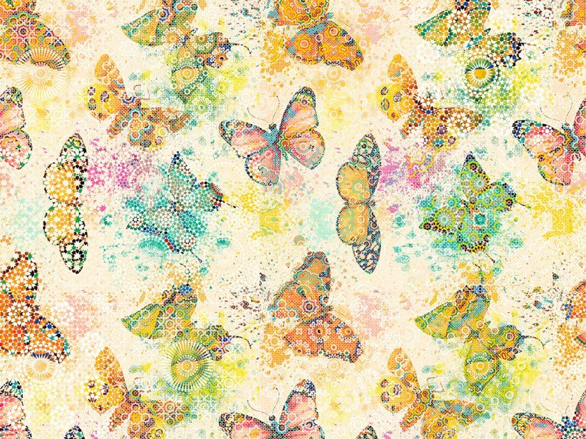 Digital printing wallpaper MOSAIC BUTTERFLIES by Architects Paper