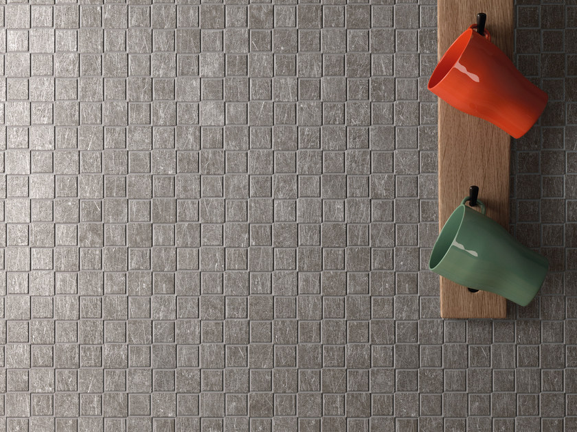 Porcelain stoneware mosaic METAL.IT | Mosaic by Ergon by Emilgroup