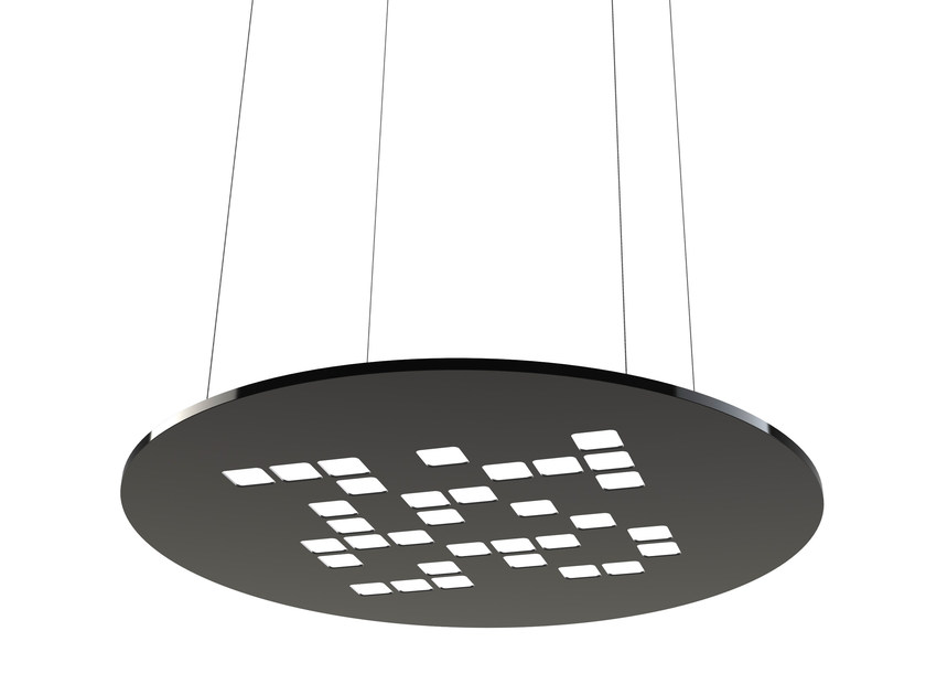 LED plastic pendant lamp MOSAIC ROUND by FLASH DQ