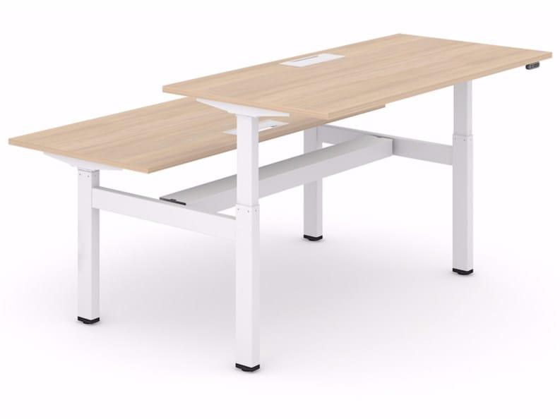 Height-adjustable workstation desk MOTION by NARBUTAS