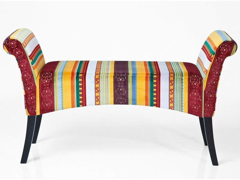 Upholstered fabric bench MOTLEY VERY BRITISH by KARE-DESIGN