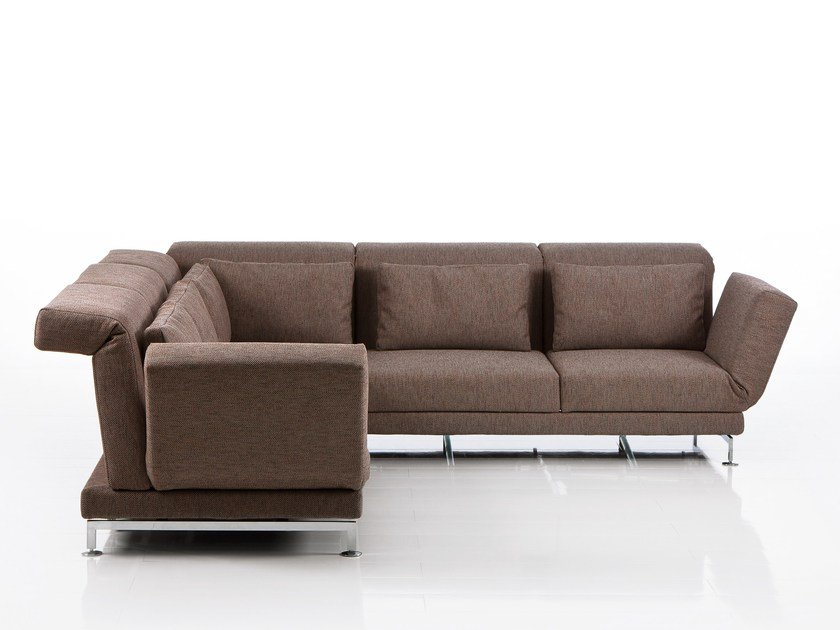 Corner recliner fabric sofa MOULE | Corner sofa by brühl