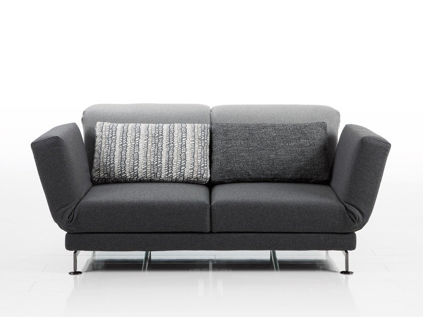 Recliner 2 seater fabric sofa MOULE | Fabric sofa by brühl