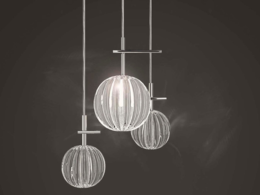 Blown glass pendant lamp MOULE NAKED by Marchetti