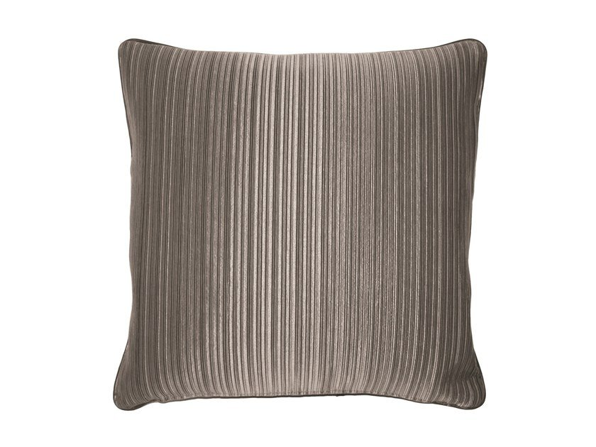 Solid-color square fabric cushion MOUNT by Longhi