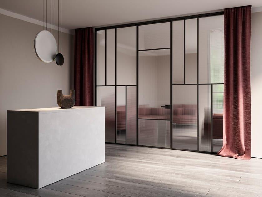 Parete mobile in alluminio e vetro CELINE | Parete mobile by ALBED