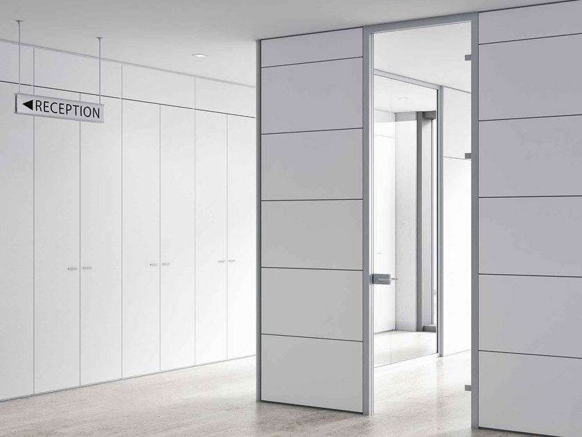Wooden office partition TAURUS | Movable wall by CUF Milano