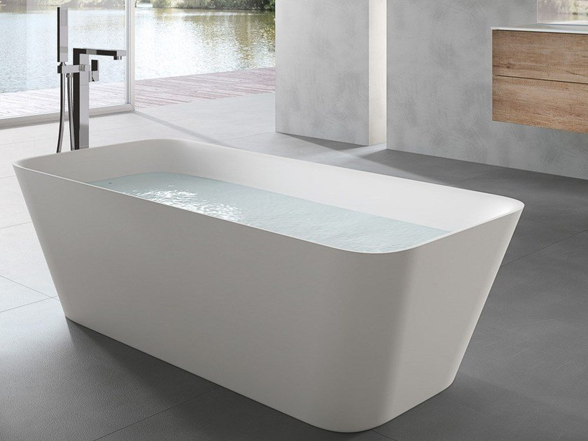 MOVE | Rectangular bathtub By Gruppo Geromin
