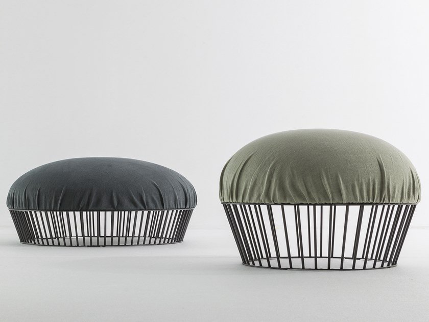 Upholstered fabric pouf MOVIE by Bonaldo