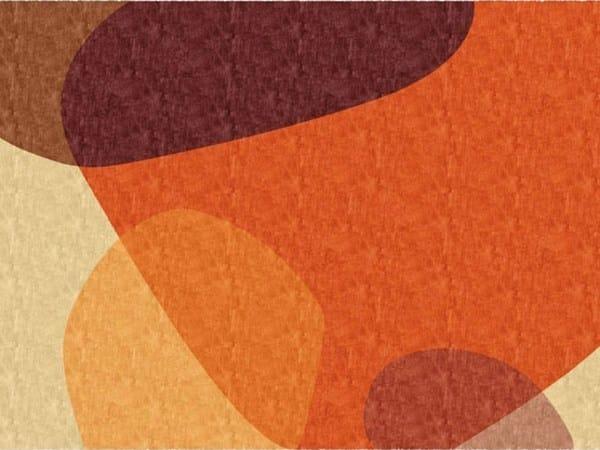 Handmade rectangular rug PLECTRUMS by Deirdre Dyson