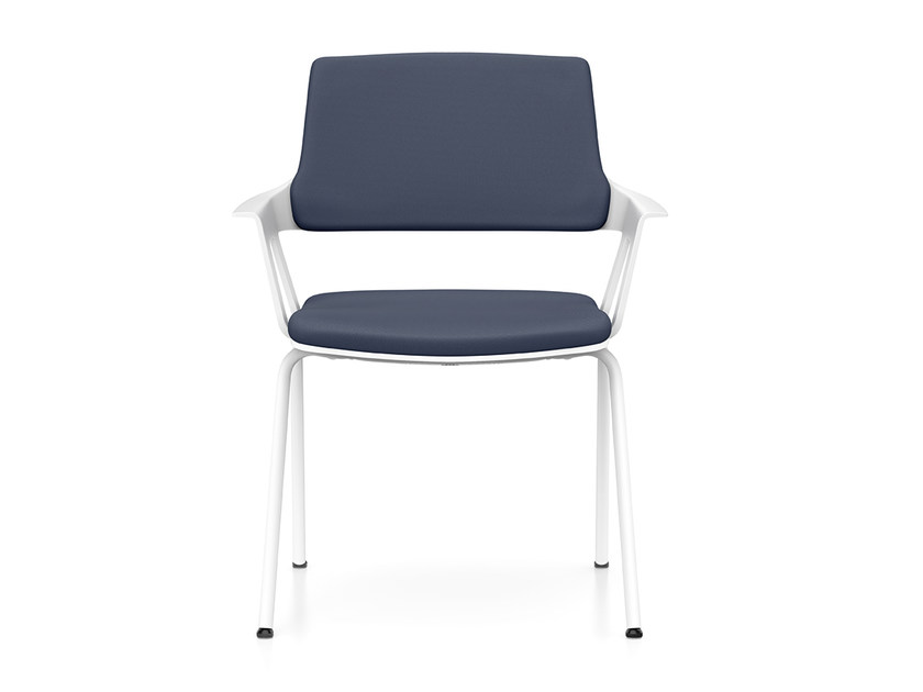 Upholstered stackable fabric chair with armrests MOVY IS3 46M0 by Interstuhl