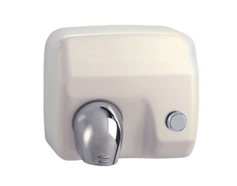 Steel Electric hand-dryer with push-button MP401 | Electric hand-dryer by Saniline