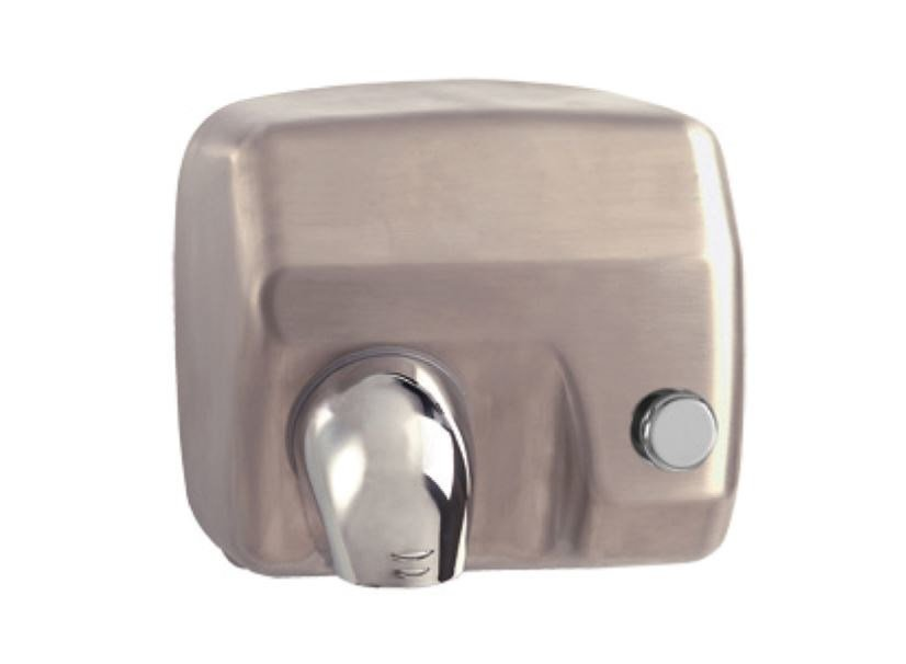 Stainless steel Electric hand-dryer with push-button MP403 | Electric hand-dryer by Saniline