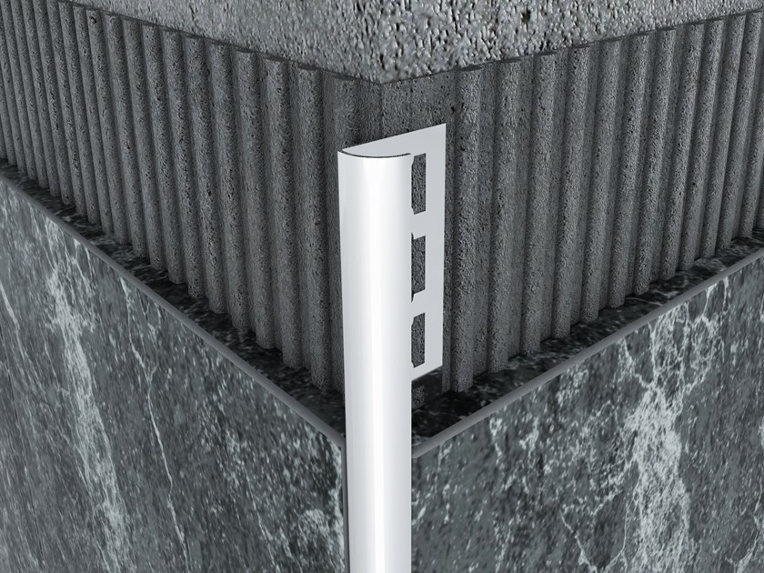Stainless Steel Oval External Corner Protection Profile MPS-AG by Mox Profile Systems