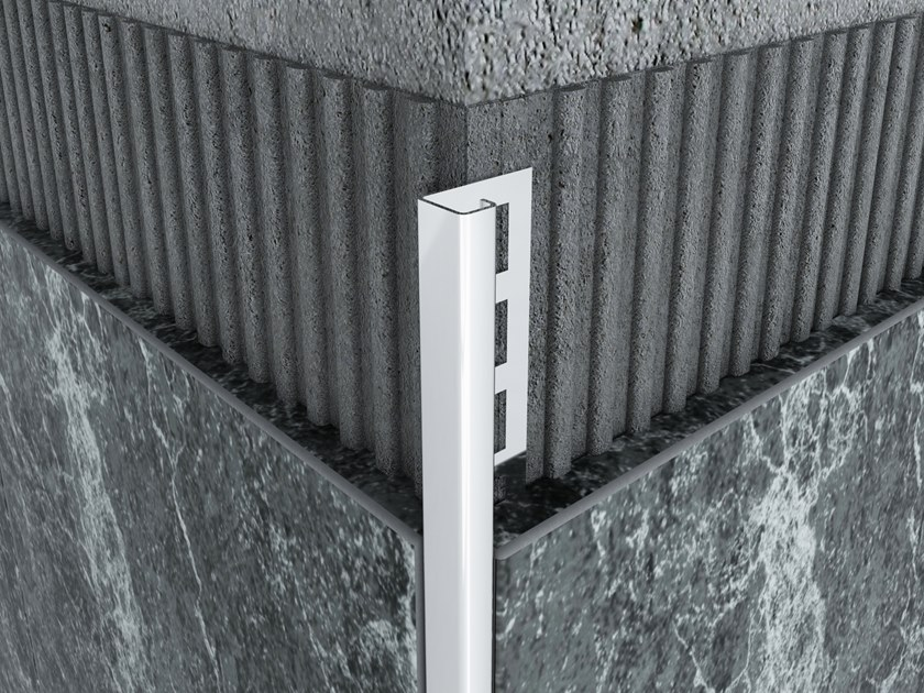 Stainless Steel Square External Corner Profile MPS-D by Mox Profile Systems