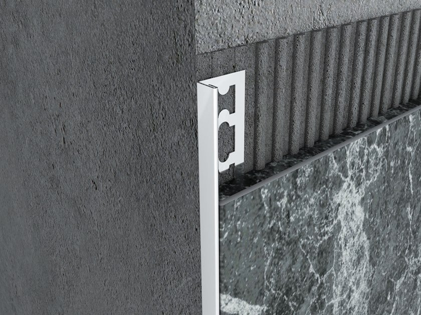 Stainless Steel Ceramic Ending Profile MPS-L by Mox Profile Systems