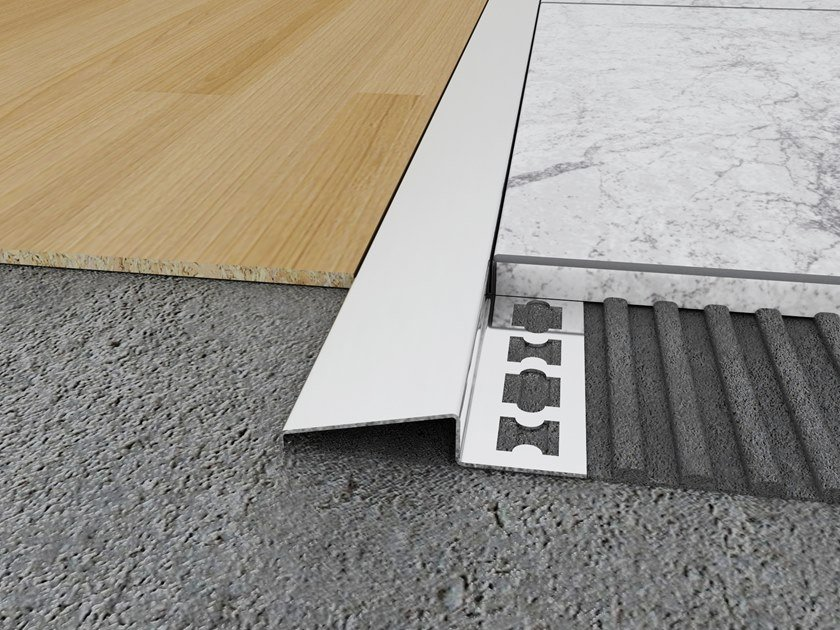 Stainless Steel Ramp Transition Profile MPS-N by Mox Profile Systems