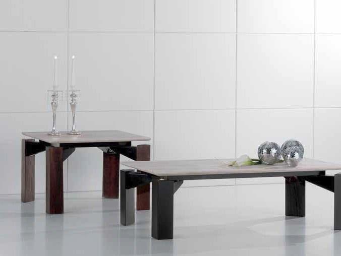 Square travertine coffee table MR.TANGO | Square coffee table by International Marmi