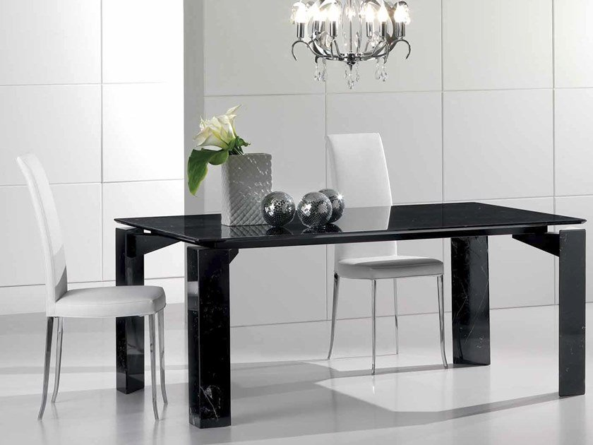 Rectangular Nero Marquina marble table MR.TANGO | Table by International Marmi
