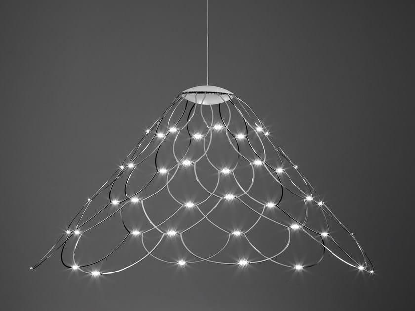 LED direct light steel pendant lamp MRS LAMOI by Sforzin