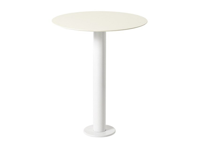 Round steel table MT 481F by Metalmobil