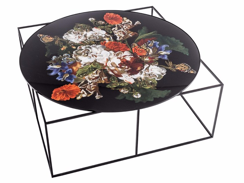 Low round metal coffee table MTD-110 by MOMENTI