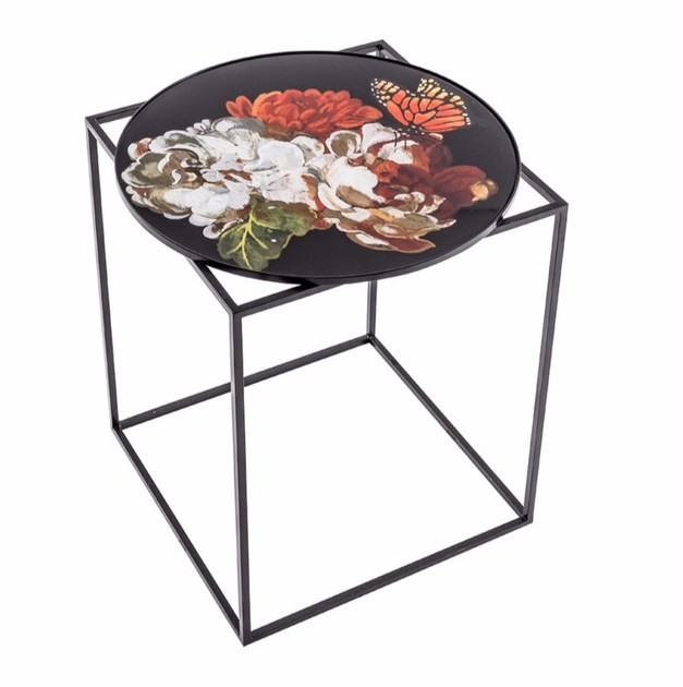 Round metal high side table MTD-45 by MOMENTI