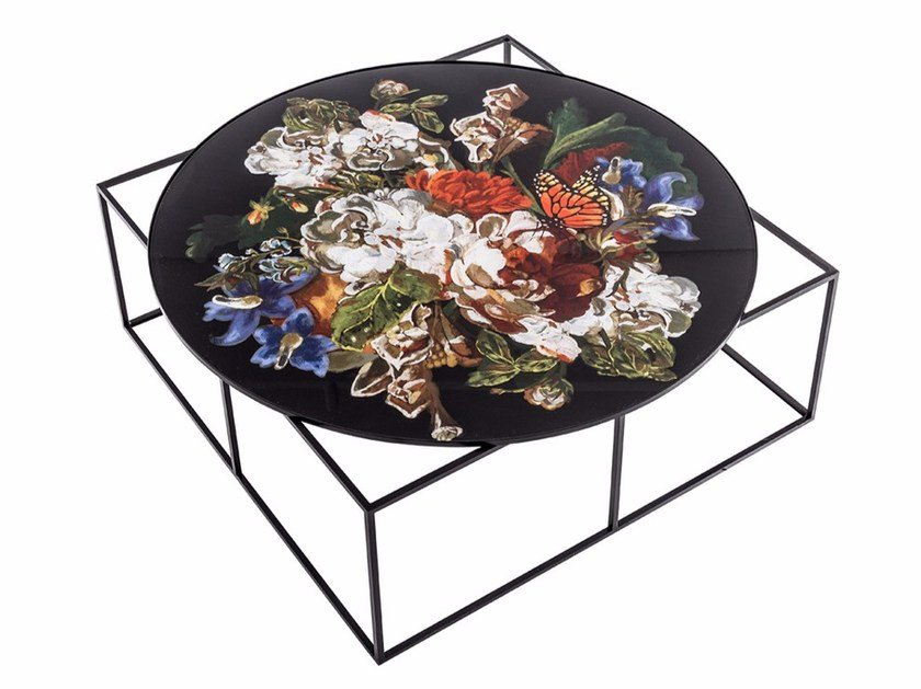 Low round metal coffee table MTD-90 by MOMENTI