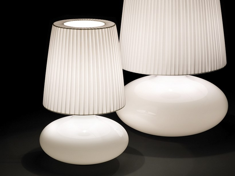 Opal glass table lamp MUF 01 by BOVER