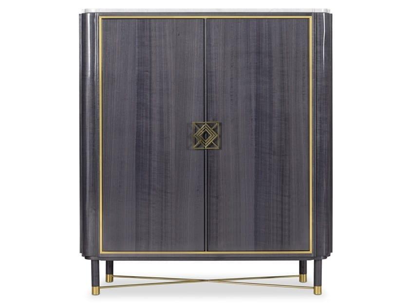 Lacquered wood veneer bar cabinet MULLIGAN | Bar cabinet by Duquesa & Malvada