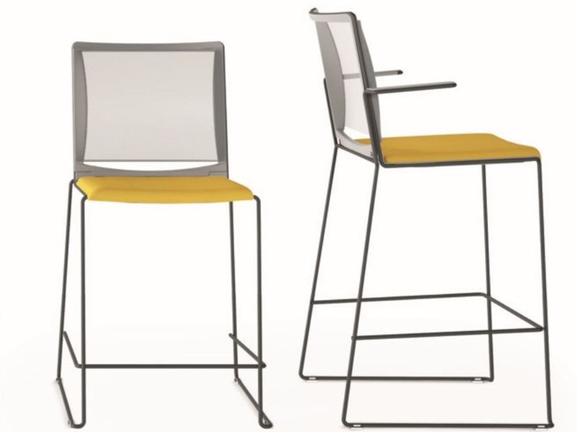 High stool with integrated cushion Multi Mesh SG by IBEBI