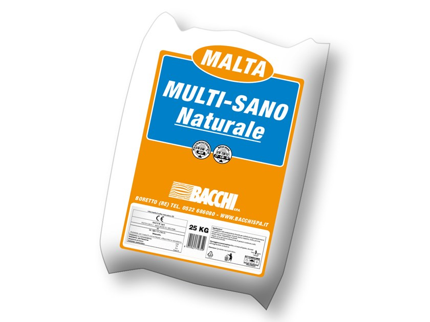 Fibre reinforced mortar MULTI-SANO NATURALE by Bacchi