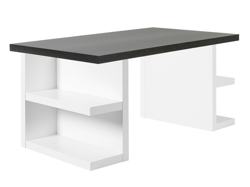 Rectangular writing desk with bookcase MULTI | Writing desk with bookcase by TemaHome