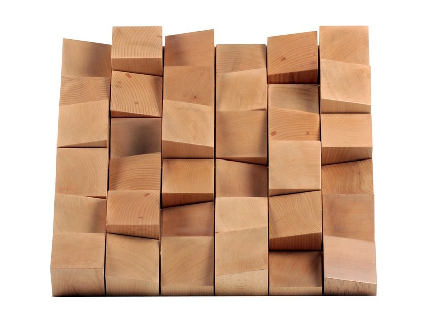 Solid wood Decorative acoustic panel MULTIFUSER WOOD 36 by Vicoustic by Exhibo