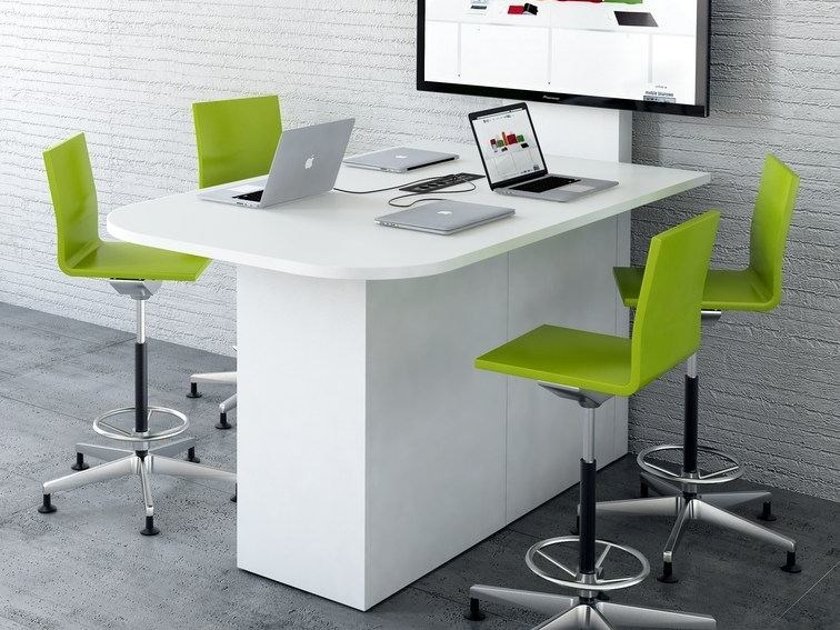 Meeting table with cable management MULTIMEDIA STAND by MDD