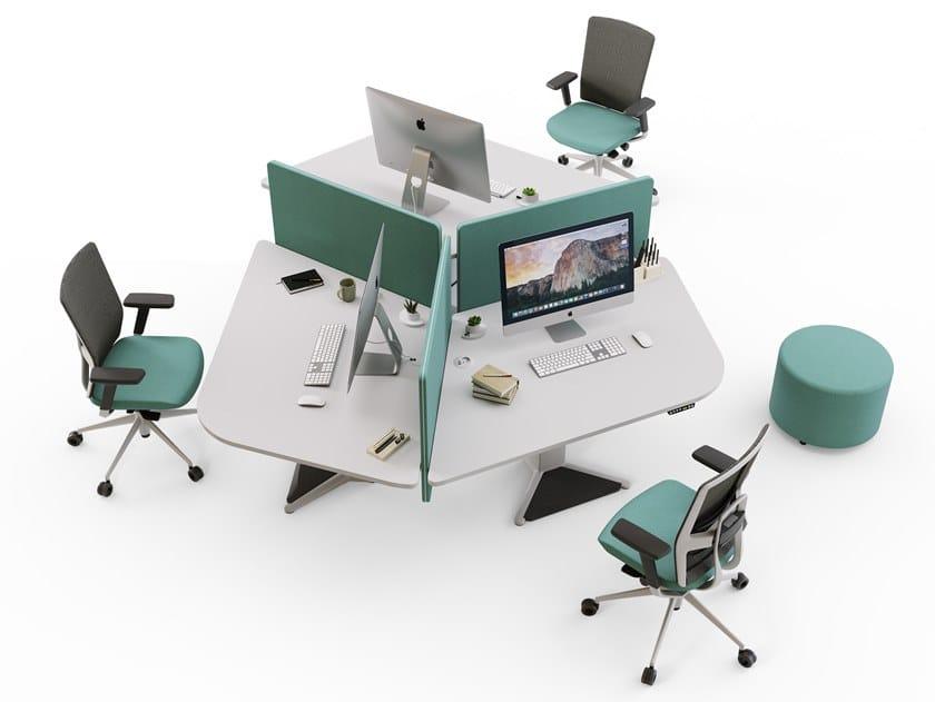 Multiple melamine office workstation POWER | Multiple office workstation by ACTIU
