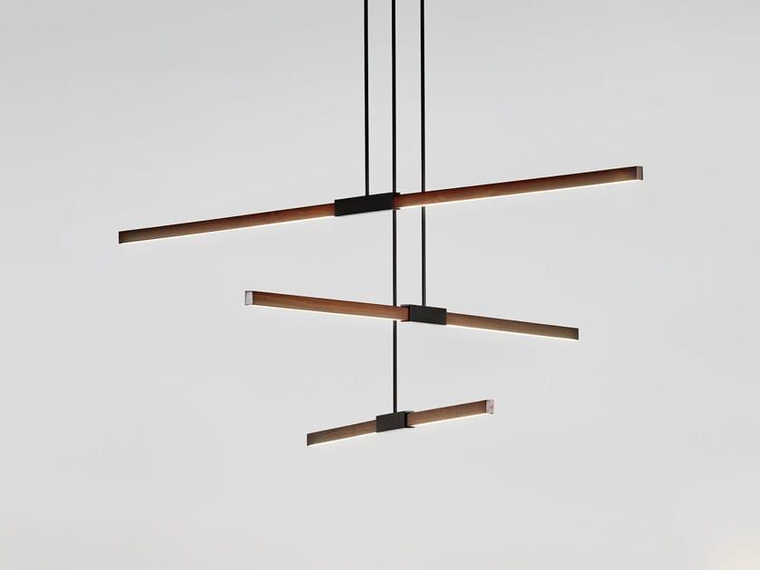 LED wooden pendant lamp MULTIPLE PENDANT by Stickbulb